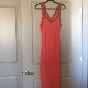Red Free People Intimates ribbed night gown